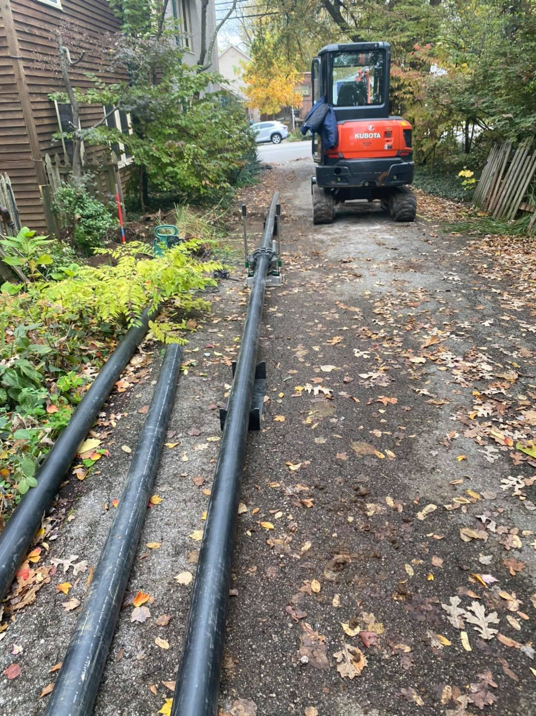 FB - Another Trenchless sewer line for install today!